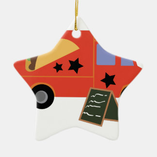 Taco Truck Ceramic Star Decoration
