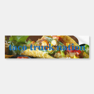 Taco Truck Nation Bumper Sticker