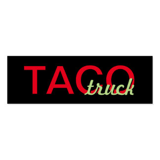 taco truck punch card pack of skinny business cards