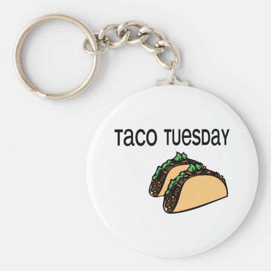 Taco Tuesday Basic Round Button Key Ring