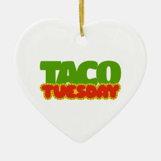Taco Tuesday Ceramic Heart Decoration