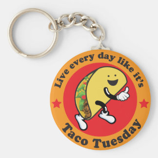 Taco Tuesday Every Day Key Ring