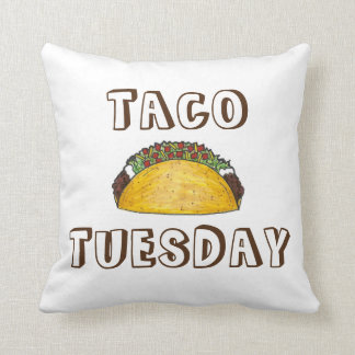 Taco Tuesday Funny Tacos Food Foodie Pillow