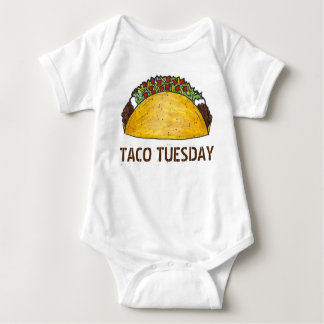 TACO TUESDAY Mexican Tex Mex Food Tacos Foodie Baby Bodysuit