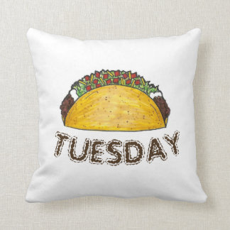 TACO TUESDAY Mexican Tex Mex Food Tacos Foodie Cushion