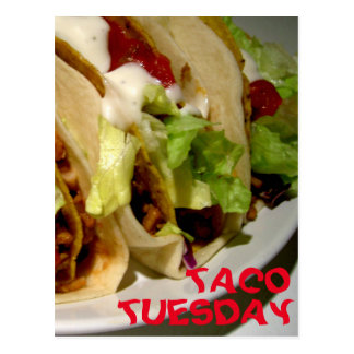 Taco Tuesday tacos photo Postcard