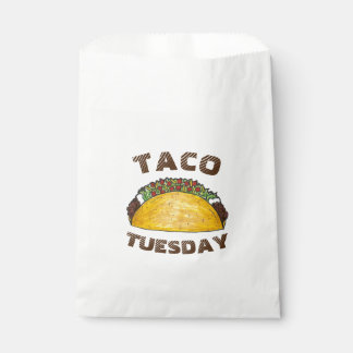 Taco Tuesday Tex Mex Mexican Food Cinco de Mayo Favour Bags
