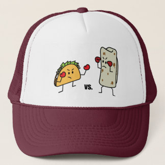 Taco vs burrito trucker hat