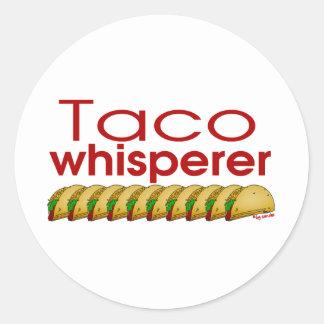Taco Whisperer Classic Round Sticker