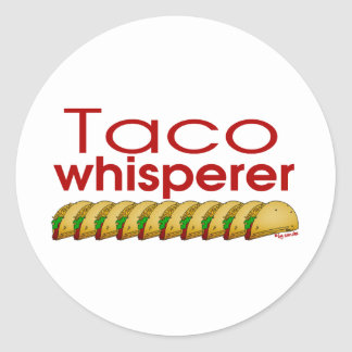 Taco Whisperer Round Sticker