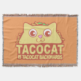 Tacocat Backwards II Throw Blanket