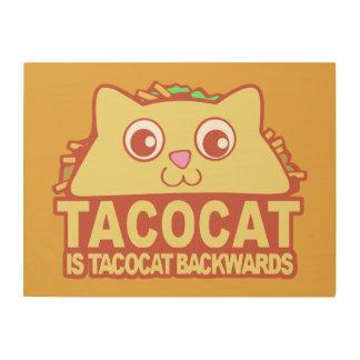 Tacocat Backwards II Wood Wall Decor