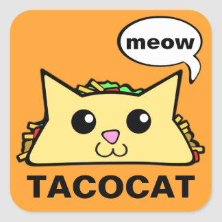 TacoCat Meow Square Sticker