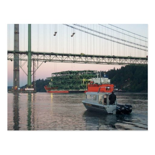 Tacoma Narrows Bridge Construction 2007 Post Card