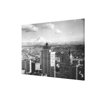 Tacoma, WA View of Rainier from Medical Arts Canvas Print