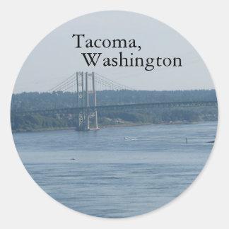 Tacoma, Washington Round Sticker