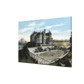 Tacoma, Washington - View of High School Gallery Wrapped Canvas