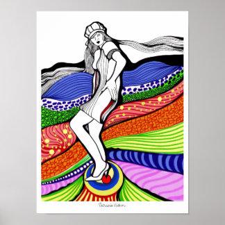 Tacon Stilettos Heels Modern Painting Poster