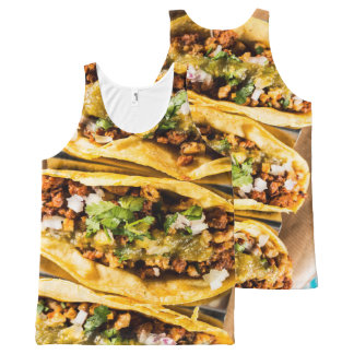 Tacos All-Over Print Tank Top