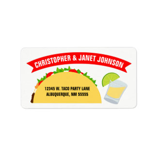 Tacos and Tequila Address Label