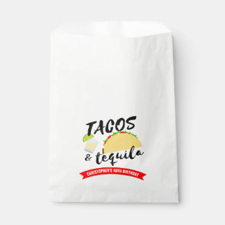 Tacos and Tequila Birthday Party Favour Bags