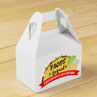 Tacos and Tequila Birthday Party Favour Box