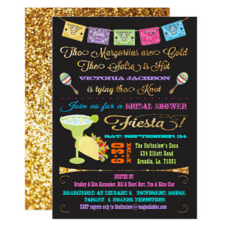 Tacos and Tequila Bridal Shower Mexican Fiesta Card