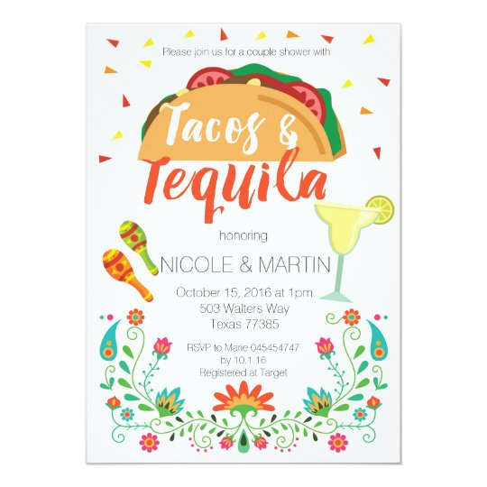 Tacos and Tequila Couple Shower Invitation