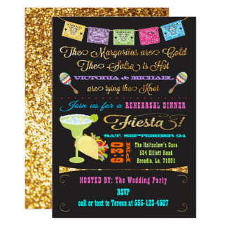 Tacos and Tequila Couples Rehearsal Dinner Fiesta Card