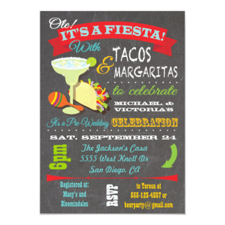 Tacos and Tequila Couples Shower Invitation