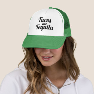 Tacos and Tequila Funny Trucker Hat