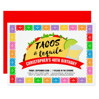 Tacos and Tequila Party Card