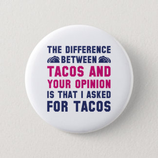 Tacos And Your Opinion 6 Cm Round Badge