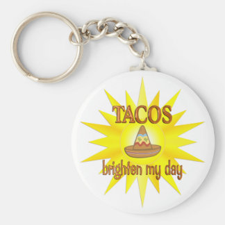 Tacos Brighten Key Ring