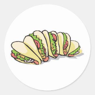 tacos classic round sticker