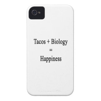 Tacos Plus Biology Equals Happiness iPhone 4 Case