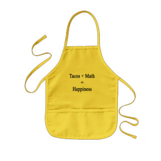 Tacos Plus Math Equals Happiness Kids Apron