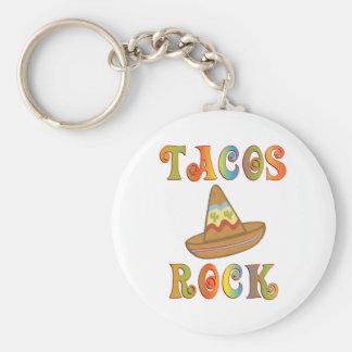Tacos Rock Key Ring