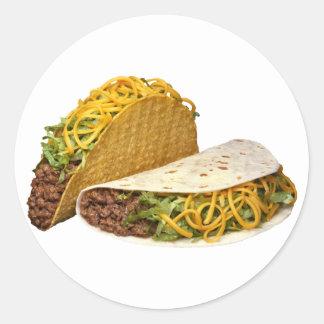 Tacos Round Sticker