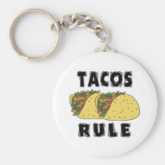 Tacos Rule Key Ring