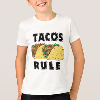 Tacos Rule Kids T-Shirt