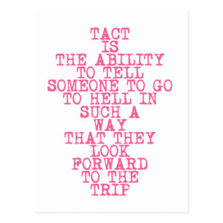 TACT - funny quote - postcard