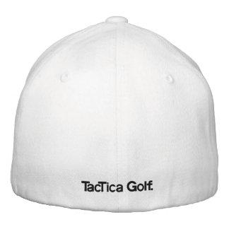 TacTica Golf. Original White FlexiFit Hat Embroidered Baseball Caps