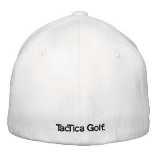 TacTica Golf. Original White FlexiFit Hat Embroidered Baseball Cap