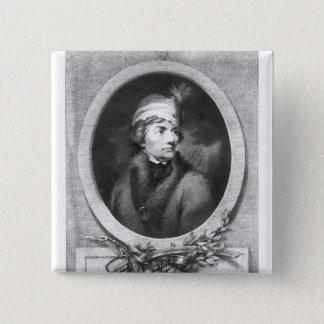Tadeusz Kosciuszko , engraved by Christiaan 15 Cm Square Badge
