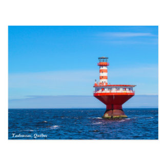 Tadoussac offshore lighthouse, Québec postcard