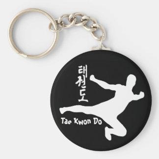 Tae kwon do basic round button key ring