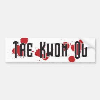 Tae Kwon Do Battle Bumper Sticker