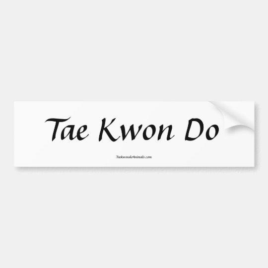 Tae Kwon Do Bumper Sticker