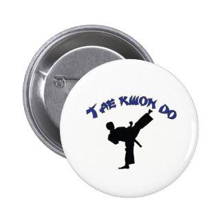 Tae kwon do - Tae kwon do Martial Art Design 6 Cm Round Badge